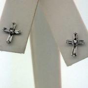 18k Cross Diamond Earring