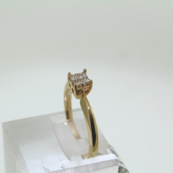 Yellow Gold Diamond Solitaire Ring 3 main