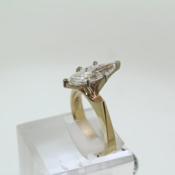 Yellow Gold Diamond Solitaire Ring main