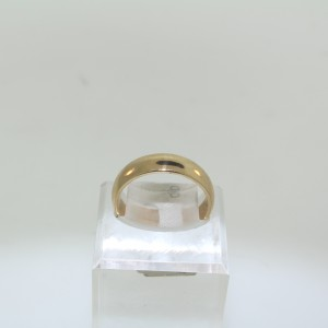 Yellow Gold Plain Wedding Band 1