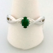 Emerald Ring 10k White Gold
