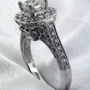 18k Princess cut Diamond Ring