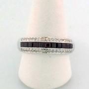75 Ruby Ring 14k White Gold