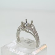 White Gold Diamond Semi Mount