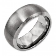 Titanium Beveled Edge 10mm Satin And Polished Band
