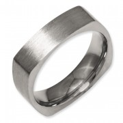 Titanium Square 6mm Satin Band