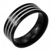 Titanium 8mm Black IP-Plated Polished Band