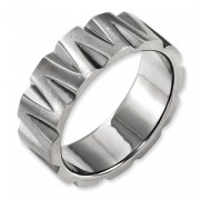 Titanium Notched 8mm Satin & Polished Band