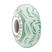 Lace Collection Fern Green Art Murano Glass Bead