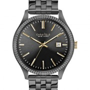 Caravelle New York by Bulova Men's Gray Ion-Plated Stainless Steel Bracelet Watch