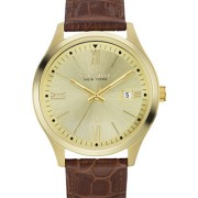 Caravelle New York by Bulova Men's Brown Leather Strap Watch