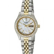 CITIZEN LADIES TWO TONE STAINLESS STEEL QUARTZ SWAROVSKI WATCH