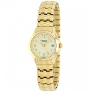 Caravelle by Bulova Gold Plated Bracelet and Gold Tone Dial