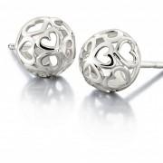 """Sterling Silver Earrings """"Delicate Hearts"""""""