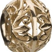 14KT Gold Flowers Bead LA-21