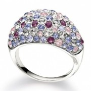 Kaleidoscope Ring – Sterling Silver & Purple Crystals