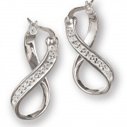 terling Silver Infinity CZ Earrings