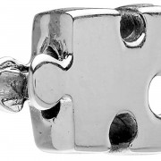 "Sterling Silver Charm ""Autism Puzzle Piece"""