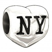 New York Heart Sterling Silver Bead