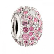 Jeweled Kaleidoscope Bead – Pink Swarovski