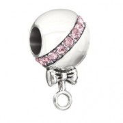 Rattle On – Pink Swarovski Baby Rattle