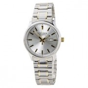 Men's Easy Reader Silver Dial Two Tone Expansion Steel Band Watch