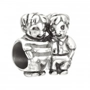 """Sterling Silver Charm """"Brothers"""""""