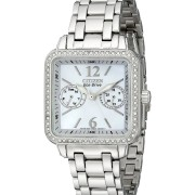 "Eco-Drive ""Silhouette""  Swarovski Crystal-Accented"