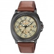 """Drive from Citizen"" Stainless Steel Watch with Brown Leather Band"