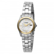 Silver and White Dial Metal Bracelet Watch
