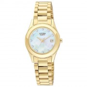 Citizen Gold Quartz Mother of Pearl Dial Women's Watch