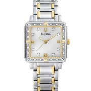 Diamond Accented Two-Tone Stainless Steel Bracelet Watch