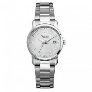 Stainless Steel Day Silver Bracelet Watch