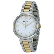 Analog Display Japanese Quartz Two Tone Watch