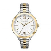 Caravelle New York  Analog Display Japanese Quartz Two Tone Watch