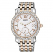 """Eco-Drive"" Stainless Steel Watch with SWAROVSKI Crystal Accents"
