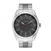 CARAVELLE NEW YORK BY BULOVA SILVER MENS WATCH