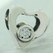 Jeweled Heart Clear