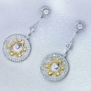 18kt Dangle Diamond Earrings