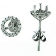 Diamond earring mountings