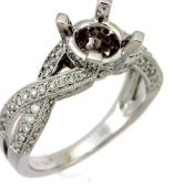 14kt White gold Diamond Mounting