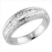 18kt white gold diamond band