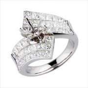 18kt white gold diamond mounting