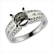 18kt white gold mounting