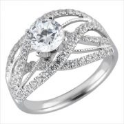 White gold diamond mounting