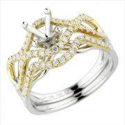 18kt yellow gold diamond mounting
