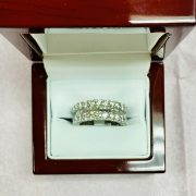 14KT WHITE GOLD DIAMOND ETERNITY BAND