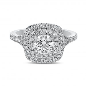 Penida Diamond Ring in White Gold - madeinUSAdiamonds