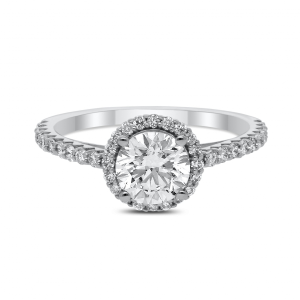 Anabelle Diamond Ring in White Gold - madeinUSAdiamonds