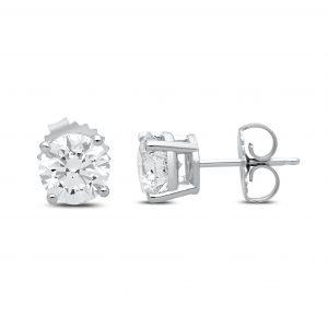 Diana Diamond Studs in White Gold - madeinUSAdiamonds